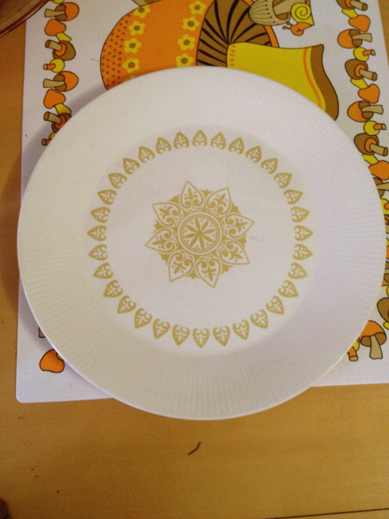 I'm buying lots of mismatched plates to hang in my long hallway.  $.79