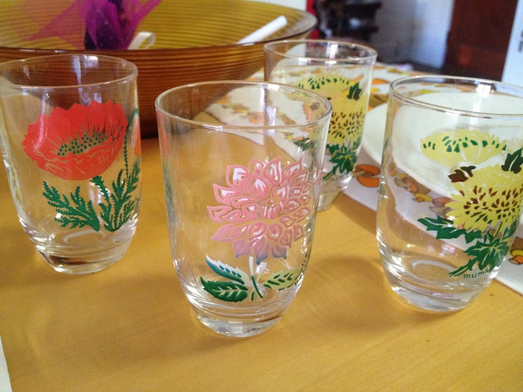 These juice glasses are the cutest things ever. $.49 each