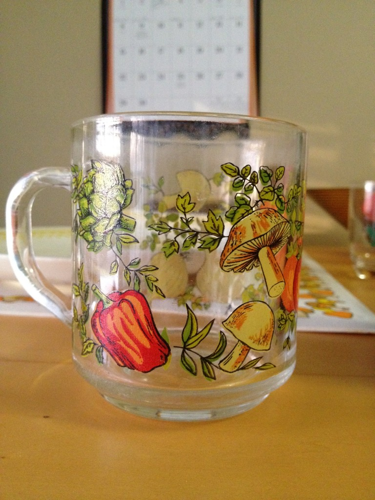 I adore this mug - I have lots of kitchen stuff with mushrooms on it. $.49