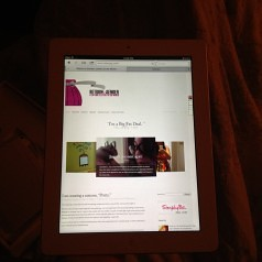My blog on my mom's iPad