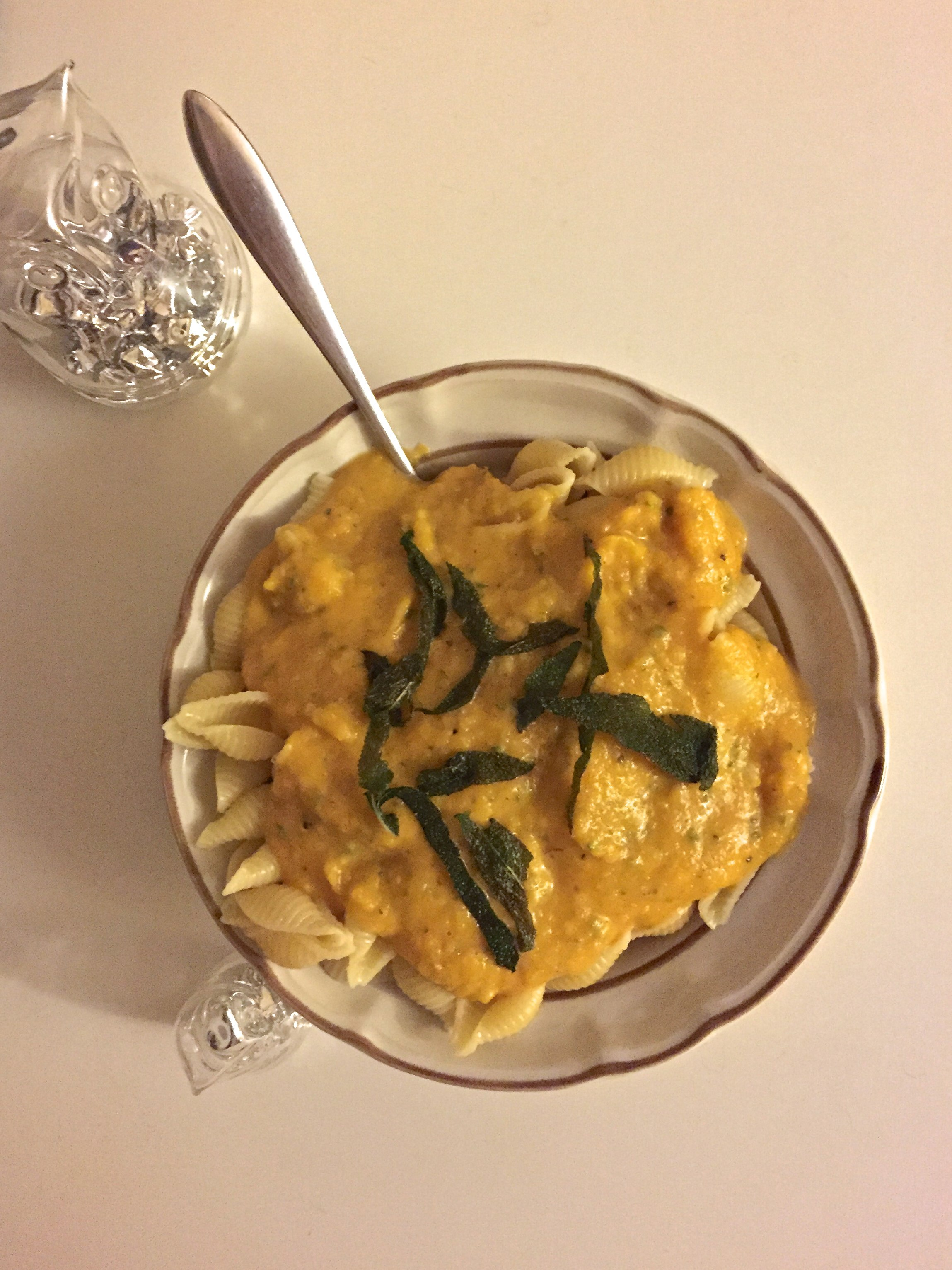 RECIPE: Butternut Squash Pasta Sauce with Fried Sage Leaves | Return ...