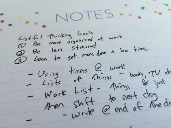 Listful Thinking Notes