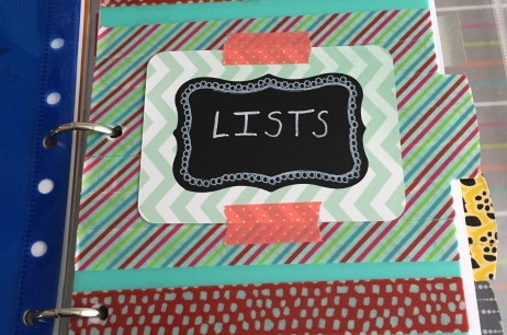 Plan It! An Interview with Paula Rizzo and my Lists Section Reveal