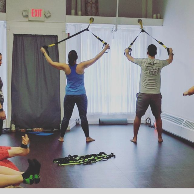 Stolen from northadamsyoga  Aaron and I hitting up thehellip